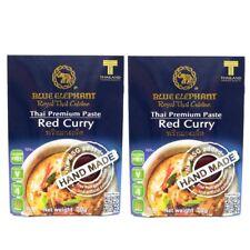Thai Food Red Curry Paste Medium Spicy 70g X2 Packs Gluten Free Blue Elephant