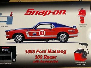SNAP ON TOOLS DIE CAST MODEL 1969 Ford Mustang 302 RACER  WORKSHOP ACCESSORIES