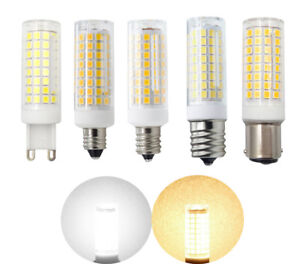 G9/E11/E12/E14/E17/BA15D LED bulb 9W 110V 102-2835SMD Ceramics Light White/Warm