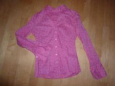 0039 Italy Bluse Baumwolle pink gemustert Gr. S WIE NEU