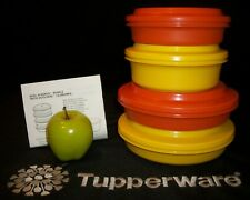 Tupperware 4 HARVEST Seal N Serve bowls ~Duo Seal Plates ~3 different sizes