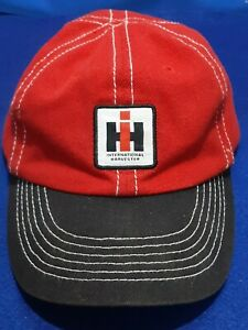 McCormick Farmall Red & BLACK Hat Baseball Cap CNH INTERNATIONAL Tractor VINTAGE