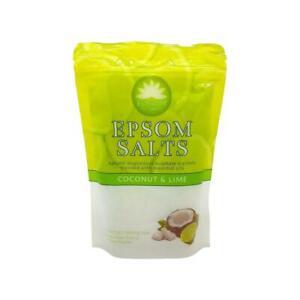 1X Elysium Spa Bath Salts Coconut & Lime Epsom Natural Magnesium Sulphate