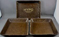 3 VINTAGE PHOTO DARKROOM FILM DEVELOPING TRAYS-HYPO EASTMAN KODAK, ROCHESTER NY