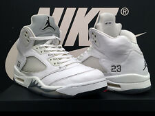 VTG 2015 AIR JORDAN 5 RETRO OG UK11 EU46 WHITE SILVER V BRED OFF SUPREME 1 RARE