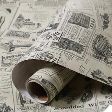 3M Vintage Newspaper Wallpaper Self Adhesive Contact Paper Bedroom Livingroom