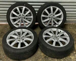 "2013-2017 VW GOLF MK7 GT 17"" OEM ALLOY WHEEL SET WITH TYRES 5G0601025BH"