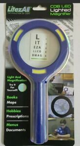 Promier Litez All Ultra Bright COB LED Lighted Magnifier, Blue, Ultra Bright