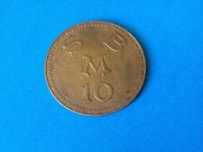 Jeton de Casino SBM 10 Francs CERCLE des ETRANGERS de MONACO