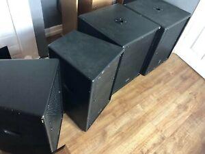 Studiomaster Pa Speakers. 2x LX12 / 2X Lx15sub