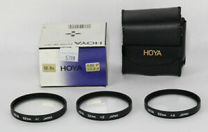 Hoya 52mm CLOSE-UP Lens Set +1 +2 +4
