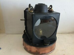 GREAT WESTERN COPPER / STEEL COMPLETE RAILWAY SIGNAL LAMP STAMPED GWR READING