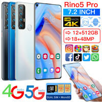 7.2 inch Rino5pro 12GB+512GB Android 10 Smartphone Dual SIM 5000mAh Mobile Phone