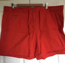 LANDS' END Women's CHINO SHORTS Size 20 Smart Shorts Orange New