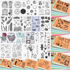 Silikon Stempel Clear Stamps Scrapbooking DIY Basteln Briefmarken Fotoalbum Kit