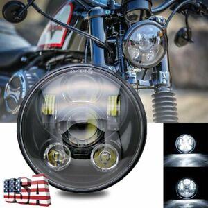 "5.75"" LED Headlight For Honda Shadow ACE Sabre Spirit VLX 600 750 1100 GL 1800"