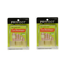 PROFOOT Toe Bandages, One Size, 3 Bandages Each, Trim to fit (Pack of 2)