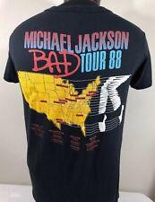 Vintage Michael Jackson T Shirt XL 1988 Tour Concert Album Promo Bad Thriller