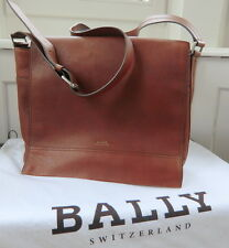 Original BALLY brown leather cross body Messenger