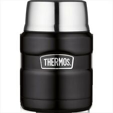 Thermos Stainless King Food Flask, 0.47L, Matt Black, 190759