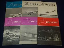 1965-1970 AIR BRITAIN DIGEST MAGAZINES PUBLISHED IN ENGLAND LOT OF 17 - O 2491