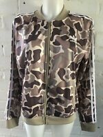 Adidas Originals Women's Tracksuit Top Size 16 Brown Camouflage Jacket