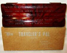 VINTAGE THE TRAVELER'S PAL portable game set - Cribbage, Cards, Chips, Dice BOX