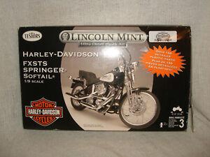 TESTORS LINCOLN MINT HARLEY DAVIDSON FXSTS SOFTAIL CUSTOM #7201 150+ PARTS