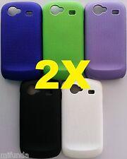 PARA SAMSUNG GOOGLE NEXUS S i9020 2 X CARCASA FUNDA SEMI PERFORADA HARD CASE