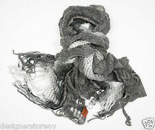MISSONI Mohair Ruffle shawl Scarf in Grey SA57PSD3311  0001