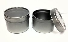 6 x 100ml Metal Tins Pot with clear window lid- cosmetics/crafts,candles, Empty