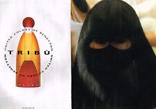 PUBLICITE ADVERTISING  1993   UNITED COLORS OF BENETTON parfum TRIBU  ( 2 pages)