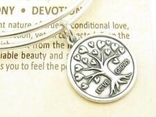 Wind und Feuer Baum der Liebe Silber Draht Armreif Stapelbar