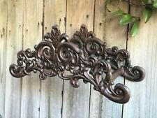 French Country Style Cast Iron Garden Hose Holder Rustic Finish