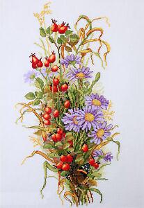 Merejka Cross Stitch Kit - Wildrose Berries