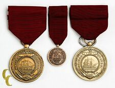 """Us Navy Medals """"Fidelity Zeal Obedience"""" United States Pins 3 PC Lot"""