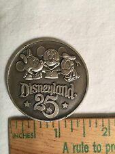 "Rare Disneyland 25 Years 1 5/8"" Commemorative Coin Medallion"