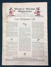 "Original 1935 Walt Disney ""Mickey Mouse Magazine with Comics"" vol.1#2 coverless"