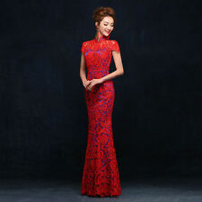 Lace Cheongsam Evening Prom Party Ball Gown Mermaid Dress Chinese dress L047F