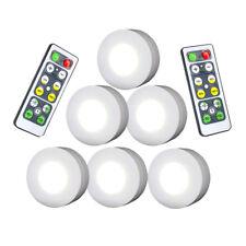 Set 6PZ Luce LED con 2X Telecomando Luce regolabile Lampada a disco da Armadio