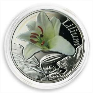 Belarus 10 Roubles Series Beauty of Flowers Lilium Flora Proof coin 2013