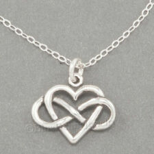 """INFINITY HEART Charm Pendant Infinite Love STERLING SILVER 18"""" Necklace 925"""