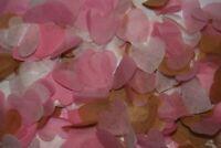 Wedding Confetti Love Hearts Bio Degradable - Pink / Ivory / Rose Gold - CONES?