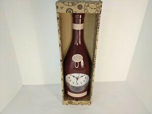 New!!! Wine Bottle Wall Clock