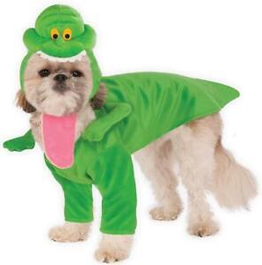 Slimer Ghostbusters Ghost Green Fancy Dress Up Halloween Pet Dog Cat Costume