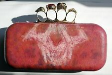 """Waxed suede clutch purse - """"King of beasts"""""""