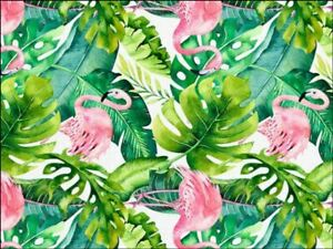 Flamingo Tropical background Edible Printed Cake Topper Kit Wafer or Icing