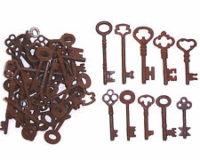ASSORTED ANTIQUE 1800'S  IRON SKELETON KEYS LOT OF 25