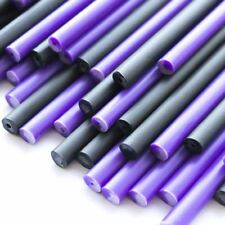 x500 Purple Potion Plastic Lollipop Sticks 150mm x 4.5mm & Black Halloween