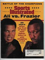 September 30, 1996 issue of Sports Illustrated Magazine Ali vs Frazier cover